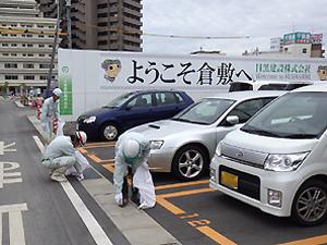 倉敷駅東雨水貯留施設築造工事のようす